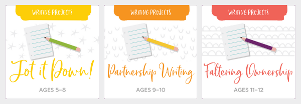 Natural Stages Writing Projects