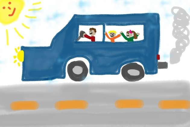Children Drawing Of Car