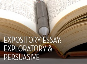 Persuasive and Expository essays?